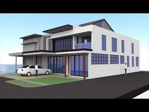 Rekabentuk Ubahsuai Rumah Teres 2 Tingkat End Lot Elmina Seksyen U16 Shah Alam