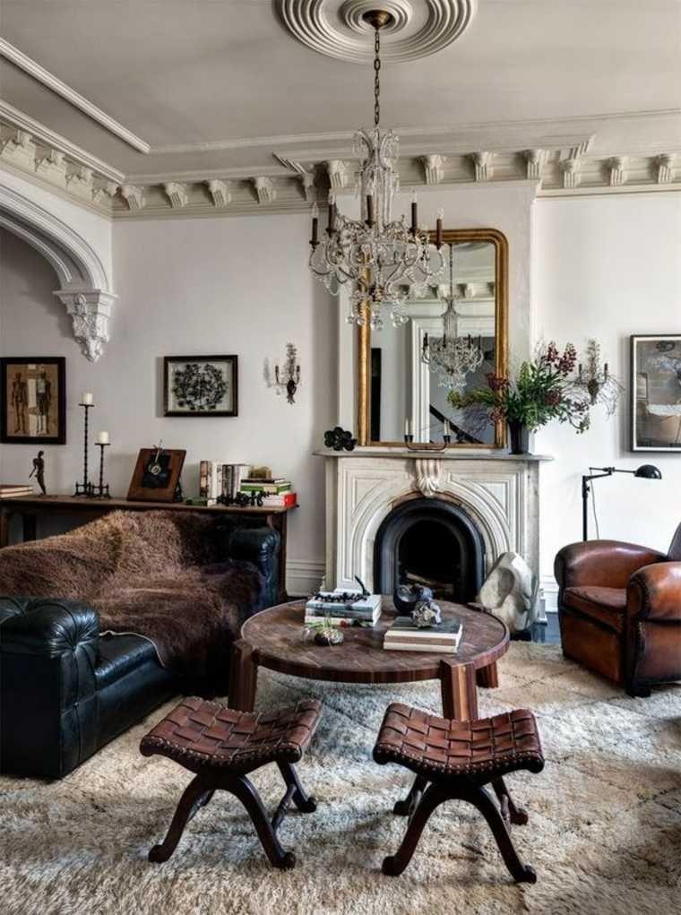 Lihat dalam galeri hiasan perapian kulit sofa ruang tamu