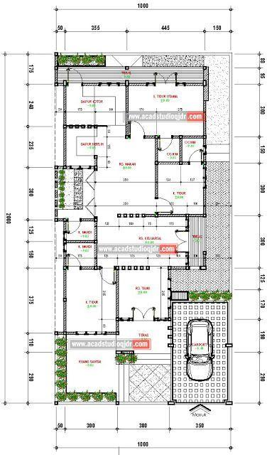 Desain Rumah Tropis Minimalis di Lahan 10x20 meter Jasa Desain Rumah Home layout di 2018