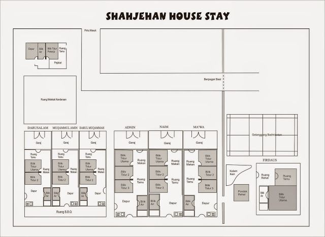 Shah Jehan Housestay menawarkan 7 buah penginapan mengikut bajet dan keselesaan anda