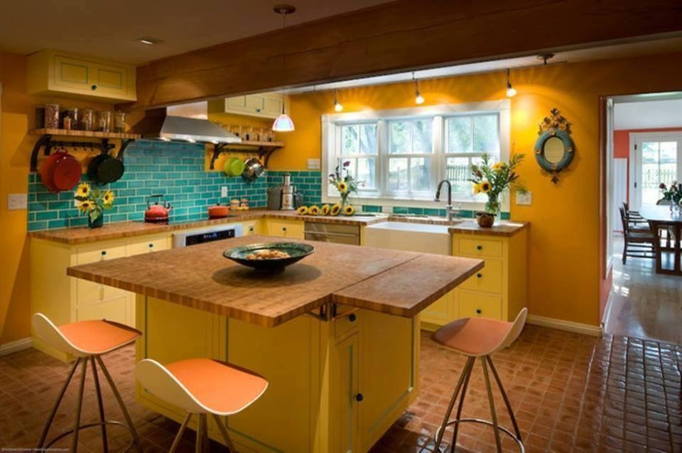 14 Inspirasi Cat Dapur Rumah Dengan Menggunakan Warna Cerah