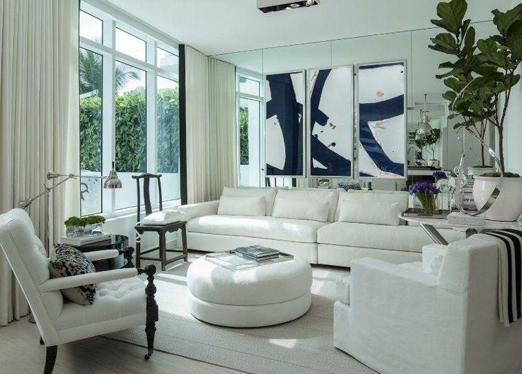 Lihat dalam galeri ruang tamu ruang tamu hiasan moden perabot putih