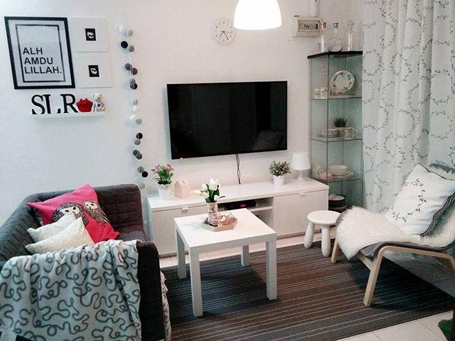 Tak perlu banyak perabot dalam Contohnya perabot dalam kos rendah ni Kesemuanya menggunakan perabot dan barangan IKEA yang simple