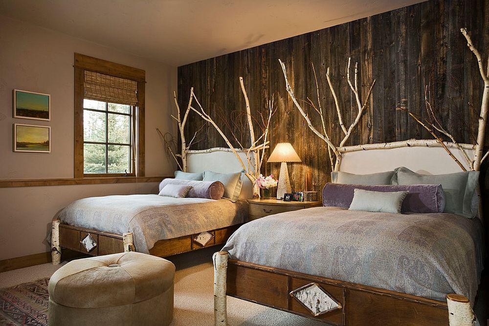 Hiasan dalaman bilik tidur a kampung menjadikan bilik moden ini lebih menarik