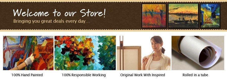 Dekorasi Hiasan Dalaman Terbaik Kabin Baik 4 Piece Kanvas Wall Art Hand Painted Terbaik Art Abstrak Minyak