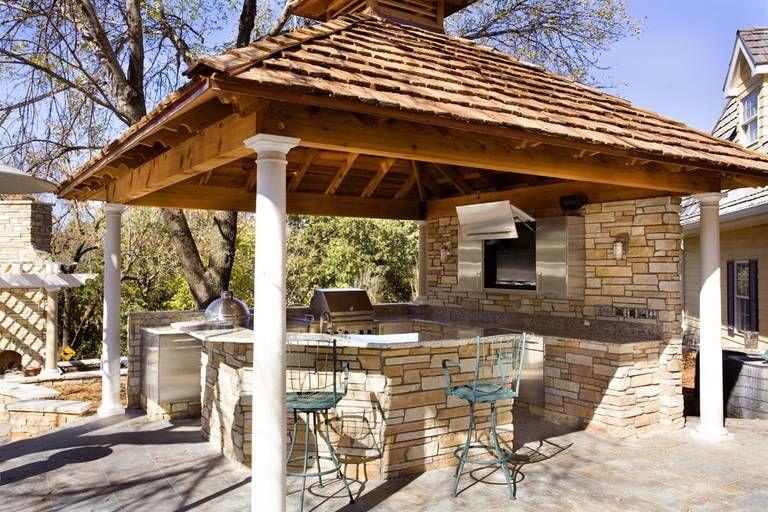 Dekorasi Hiasan Dalaman Terbaik Ruang Tamu Berguna Dapur Musim Panas Di Peribadi Hiasan Dalaman Dan Foto