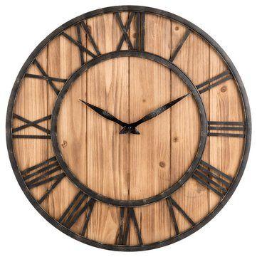 Dekorasi Hiasan Dalaman Terbaik Ruang Tamu Mewah Penting Loskii Kreatif Putaran Diam Jam Dinding Kayu Jam Dekoratif Untuk Ruang