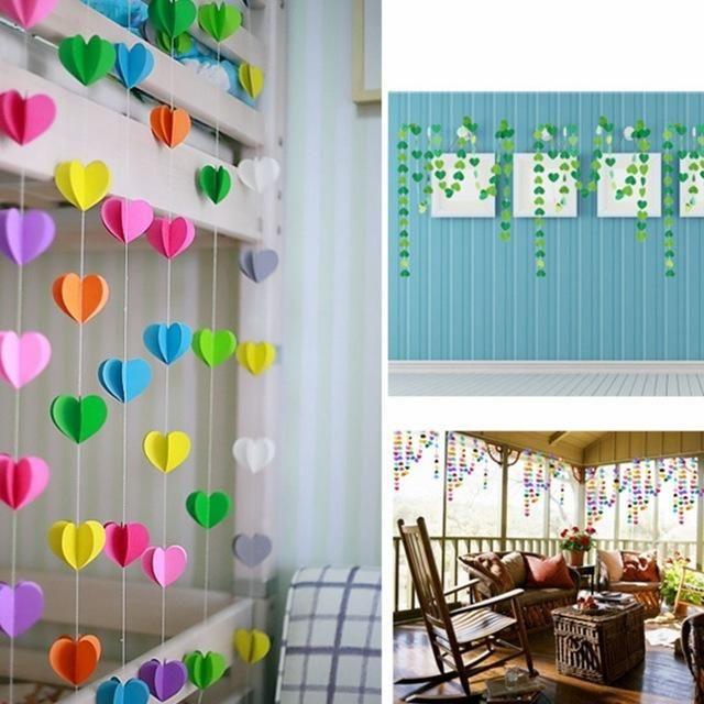 Dekorasi Hiasan Dalaman Terbaik Rumah Flat Kecil Penting 1 5 M Menggantung Kertas Garland Rantai Spanduk Dekorasi Pesta Ulang