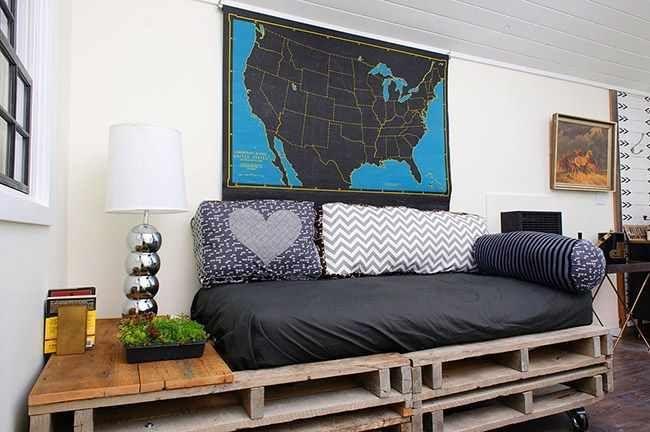 Hiasan Dinding Ruang Tamu Ikea 20 Menyenangkan Ide Kreatif Dari Perabot Dari Palet Foto Mesra Alam