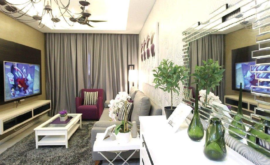 Hiasan Dalaman Apartment Moden Kontemporari Dekorasi Terkini Avec Deco Rumah Flat Et Hiasan Dalaman Ruang Tamu