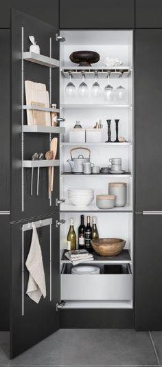 Aluminium Kitchen accessory MultiMatic by SieMatic Perabot Hiasan Dalaman Subway Tiles Rak