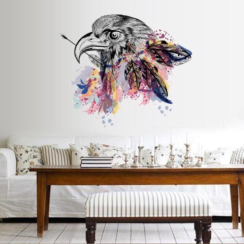 The Eagle Stiker Dinding Stiker Dekorasi Kamar Tidur Hark Wall Stiker Home Decor PVC DIY Art