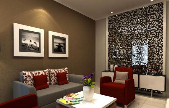Hiasan untuk ruang tamu yang berukuran kecil atau minimalis sebaiknya jangan berlebihan Cukup dengan sentuhan sederhana saja maka akan membuat tampilan