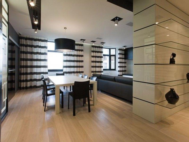 Susun atur Menarik Langsir Rumah Meletup Reka Bentuk Dapur Dengan Jubin Hitam Dapur Hitam Dan Putih Kertas