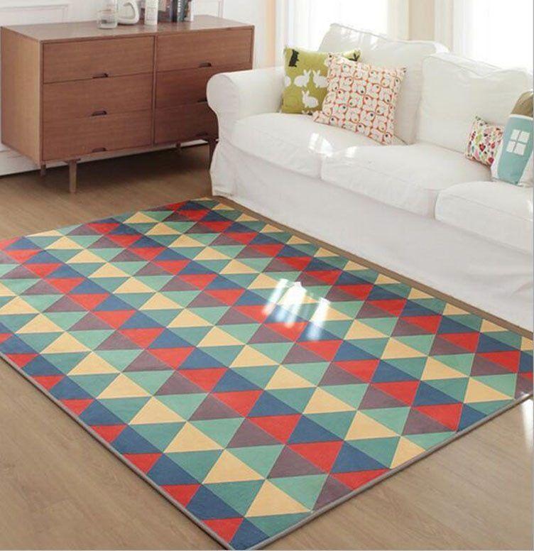 Terbaru Ukuran Besar 120x170 Cm Mode Geometri Karpet Untuk Ruang