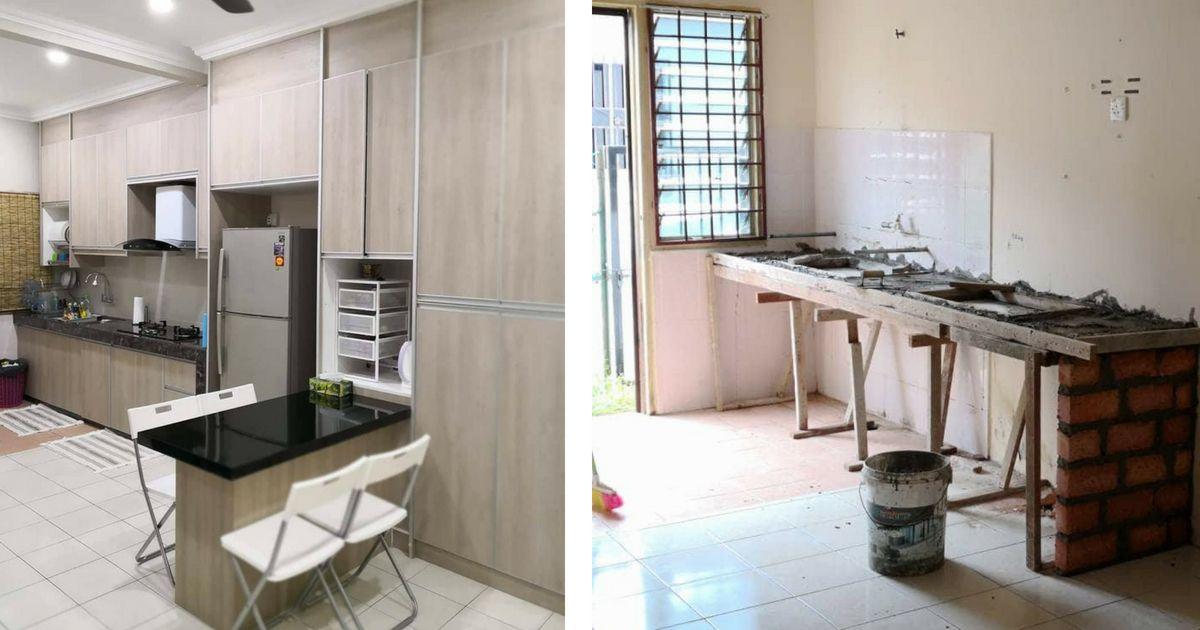 Gambar Ruang Dapur Rumah Teres Setingkat Desainrumahid Com