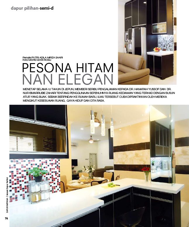 Susun atur Menarik Rumah Semi D Power Our Projects – Ba Li Kitchen Cabinet