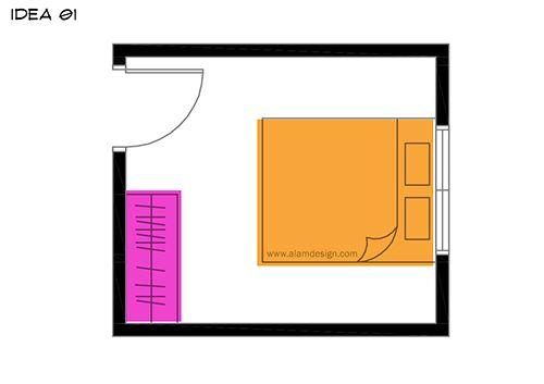 Susun atur Menarik Rumah Teres Kecil Meletup 7 Lokasi Kedudukan Katil Dan Almari Pakaian Di Bilik Tidur