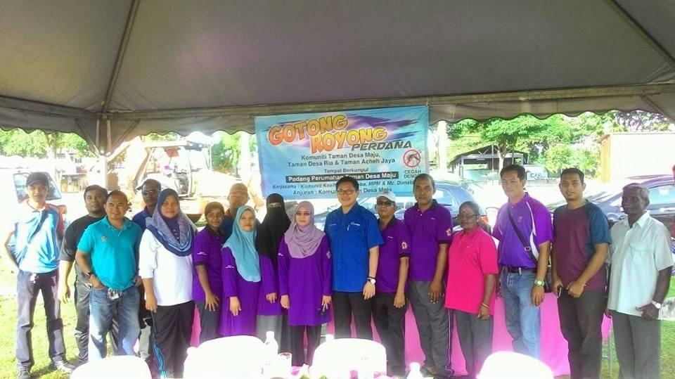 Susun atur Menarik Taman Rumah Terbaik Program Gotong Royong Perdana Komuniti Taman Desa Taman Desa Ria