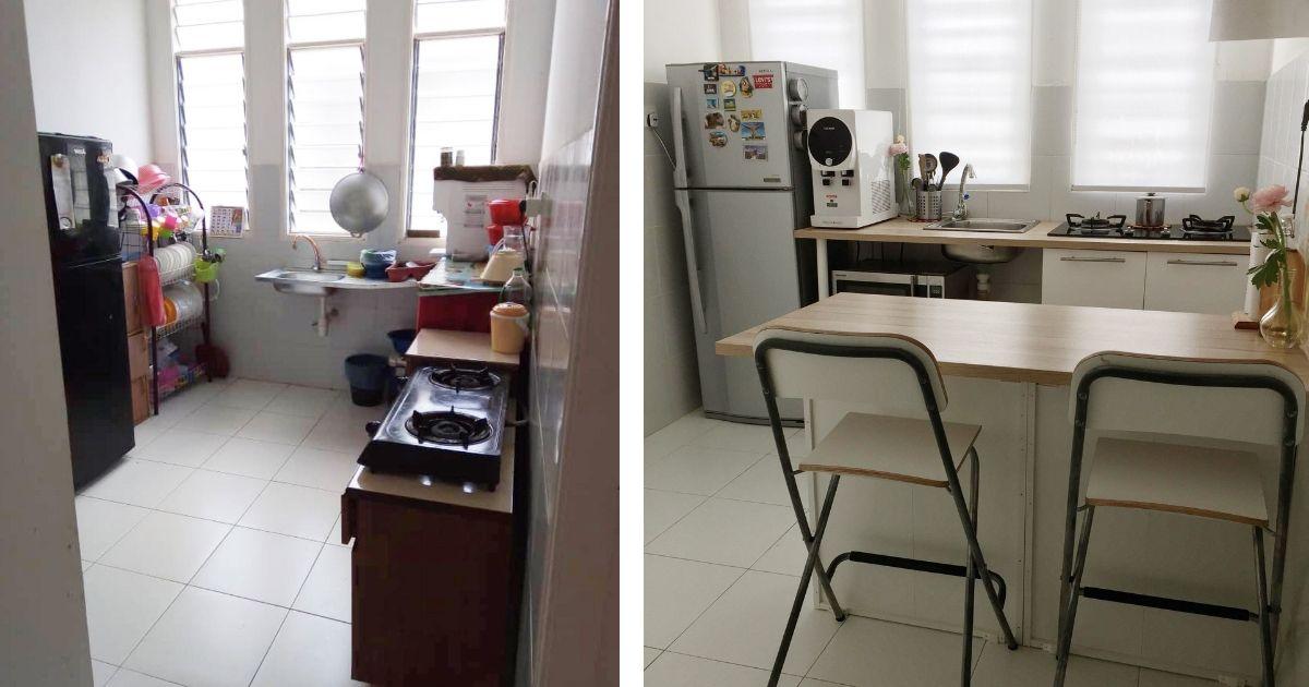 Susun atur Ruang Dapur Kecil Bernilai Kos Bawah Rm550 Idea Praktikal Hias Dapur Sempit Dengan Counter