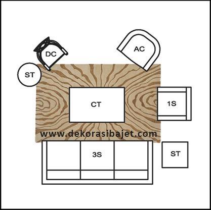 Susun atur Ruang Tamu Rumah Kecil Hebat 3 Idea Susun atur Perabot Ruang Tamu