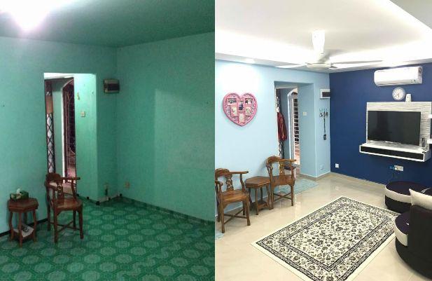 Cara Untuk Deko Dapur Kecil Rumah Teres Meletup Foto] Lihat Bagaimana Wanita Ini Ubahsuai Rumah Flat Pkns