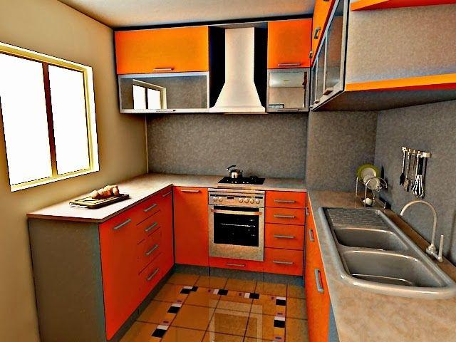 38 idea dekorasi dapur untuk apartment dan kondominium yang kecil Contoh Hiasan Dalaman Rumah