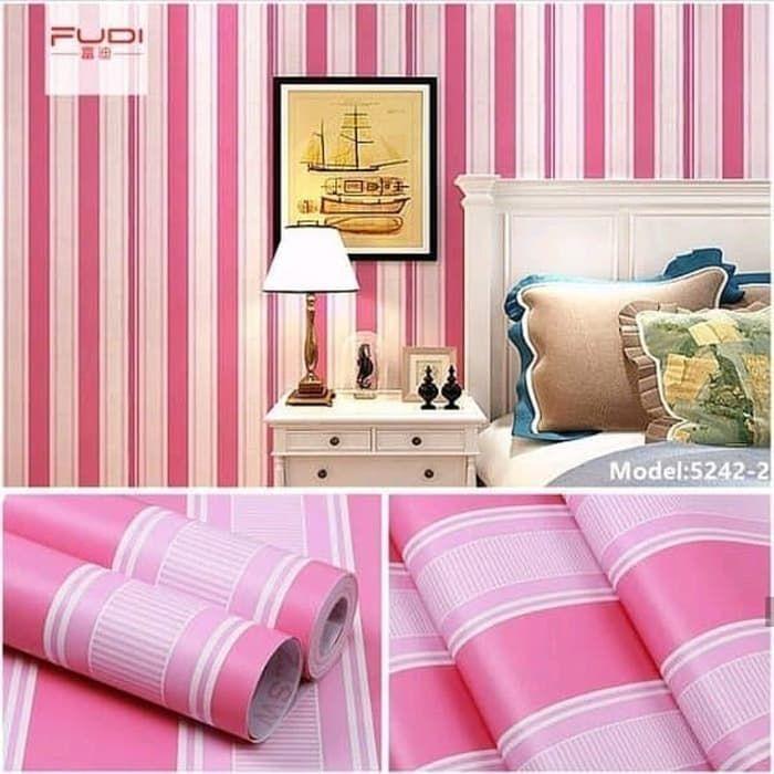 cara untuk deko dengan wallpaper terhebat jual wallpaper dinding motif pink salur 45cmx 10 meter kota of cara untuk deko dengan wallpaper