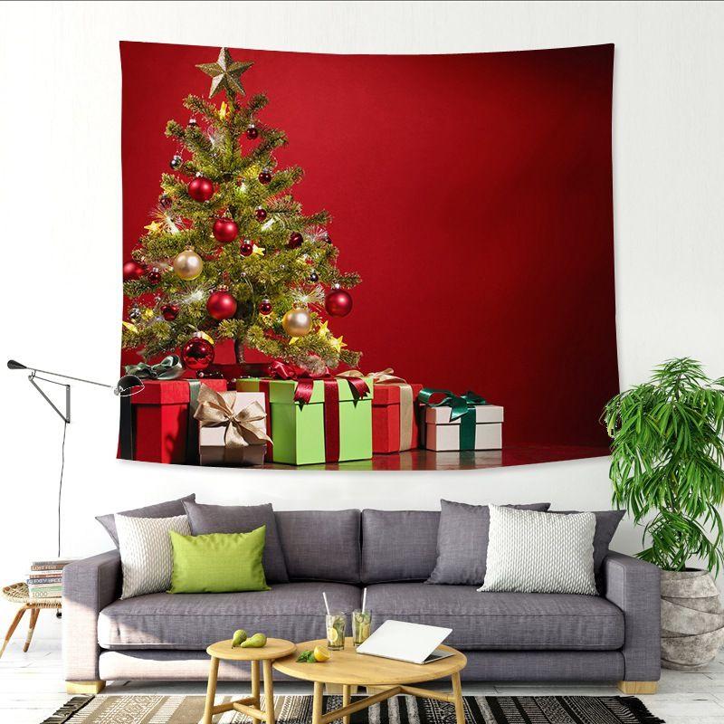 Cara Untuk Deko Ruang Tamu Rumah Terbaik Pohon Natal Yang Indah Langit Malam Permadani Dinding Dekorasi Rumah