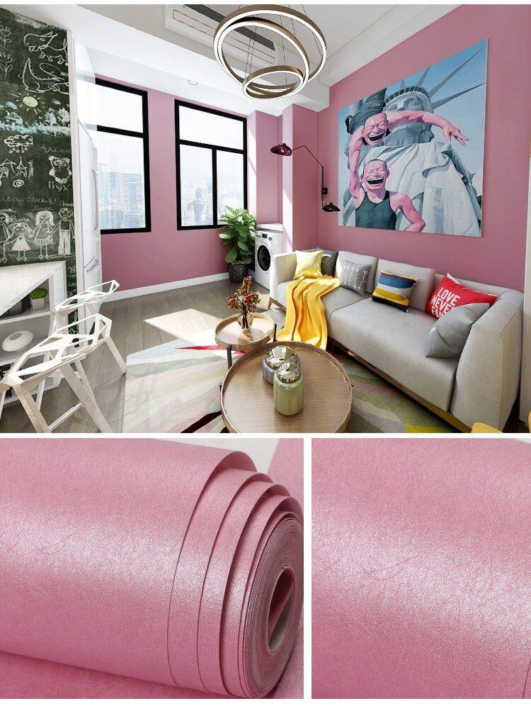 Cara Untuk Deko Rumah Kg Bermanfaat Modern Wallpaper Dekorasi Rumah Warna solid Sutra Merah Muda