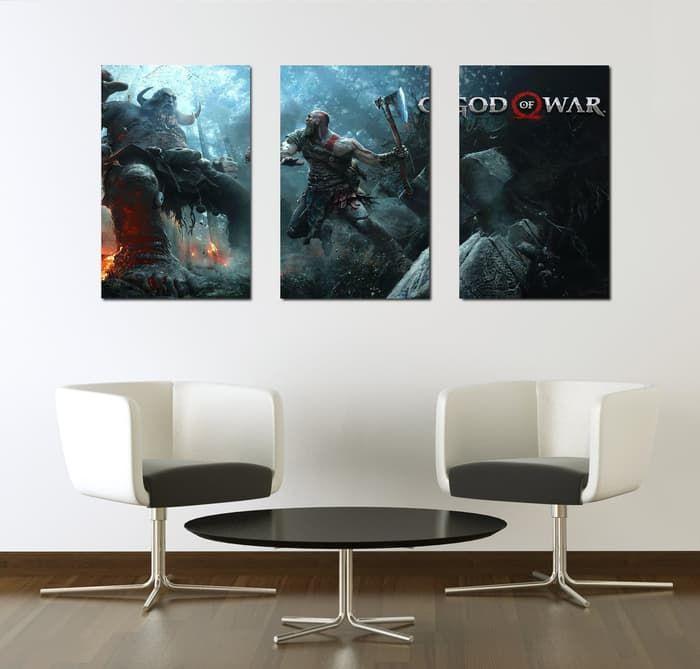 Poster 3 Panel God War Hiasan Dinding Picbox