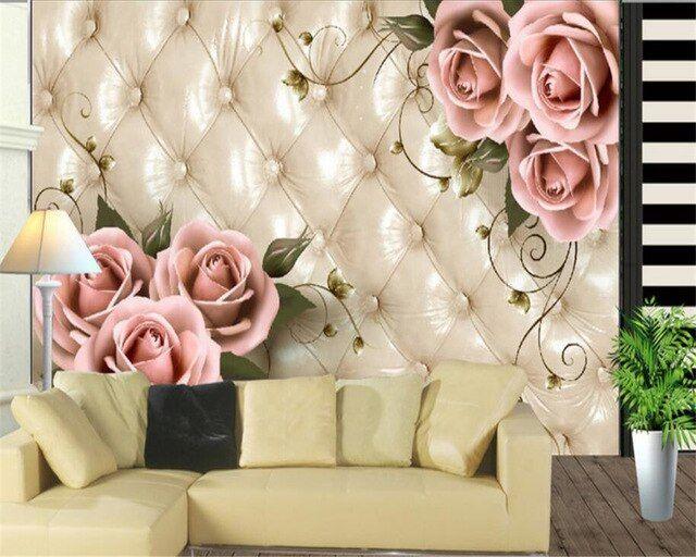 Cara Untuk Deko Rumah Semi D Bermanfaat Beibehang Kertas Dinding Dekorasi Rumah Elegan Tas Rose 3d Ruang