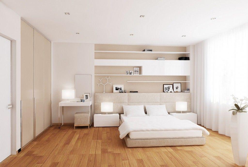Modern White and Cream Interior Design of Bedroom
