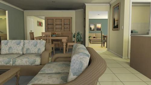 dengan komputer peribadi untuk membuat imej tiga dimensi dari seluruh apartmen atau bilik berasingan mengatur perabot mengambil bahan untuk dekorasi