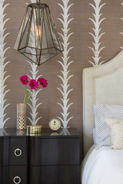 Gabungan kertas dinding dan perabot di pedalaman ruang tamu bilik tidur dapur nurseri
