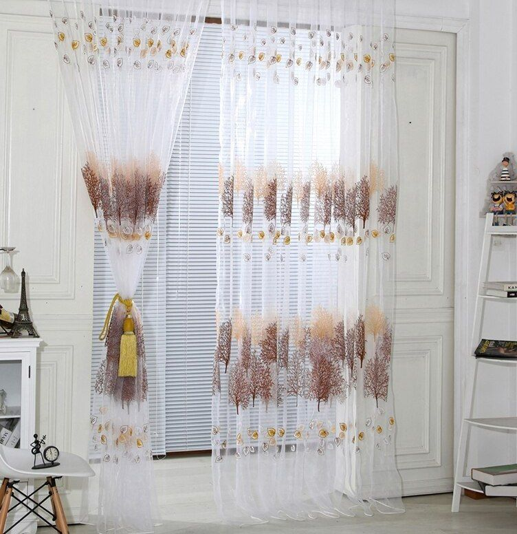 Disesuaikan Sheer Kain Pual Gorden untuk Kamar Tidur Pakaian Tongkat Gaya Gorden Ruang Moderen Baru