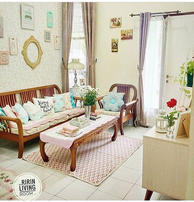 Desain Ruang Tamu Sederhana Mungil Kecil Shabby Chic