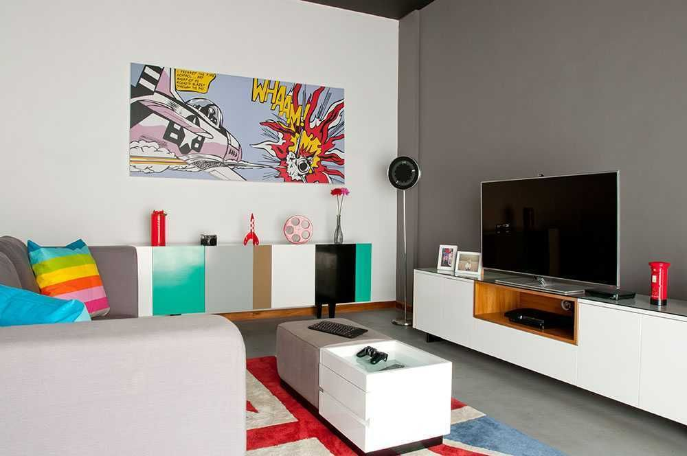 Perpaduan warna abu abu di Urban Pop House karya Vindo Design
