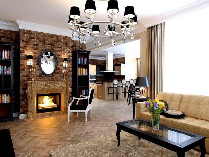 Cara Untuk Dekorasi Hiasan Dalaman Terbaik Ruang Tamu Kecil Hebat Kombinasi Bata Merah Di Bagian Interior Dinding Bata Di Dapur