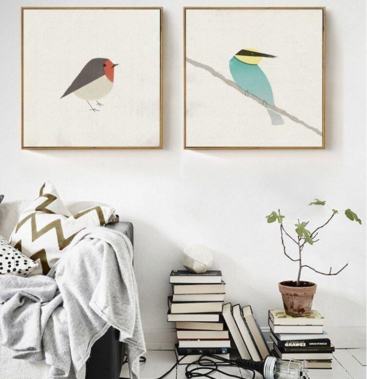 Cara Untuk Dekorasi Hiasan Dalaman Terbaik Ruang Tamu Moden Kontemporari Terbaik ᗚkingfisher nordic Modern Kanvas Minyak Lukisan Poster Dan Cetakan