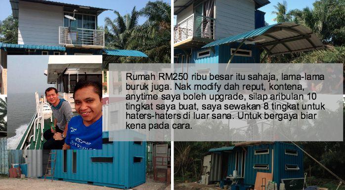Tak Sanggup Beli Rumah Dengan Beban Hutang 30 Tahun Lelaki Ini Tekad Bina Rumah Kontena Sendiri