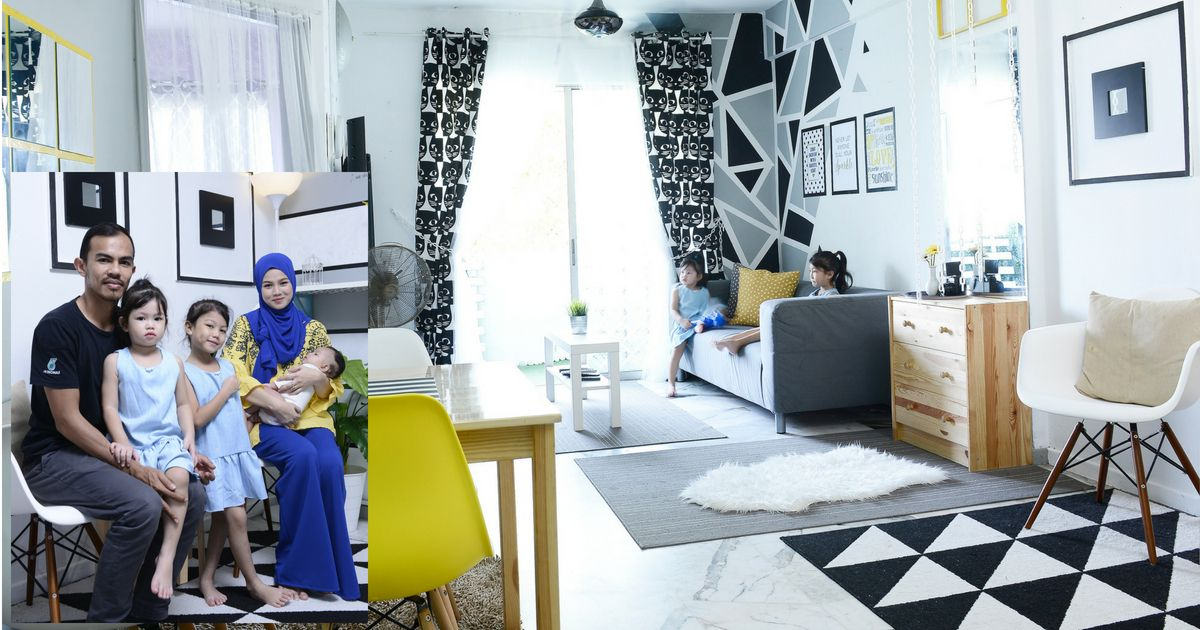 Cara Untuk Dekorasi Hiasan Dalaman Terbaik Rumah Konsep Hitam Putih Meletup Rajin Diy Ibu Muda Ini Buktikan Ada Anak Kecil Bukan Penghalang