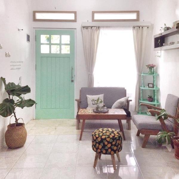 Design Ruang Tamu Rumah Kampung Wallpaper Dinding Vtwctr