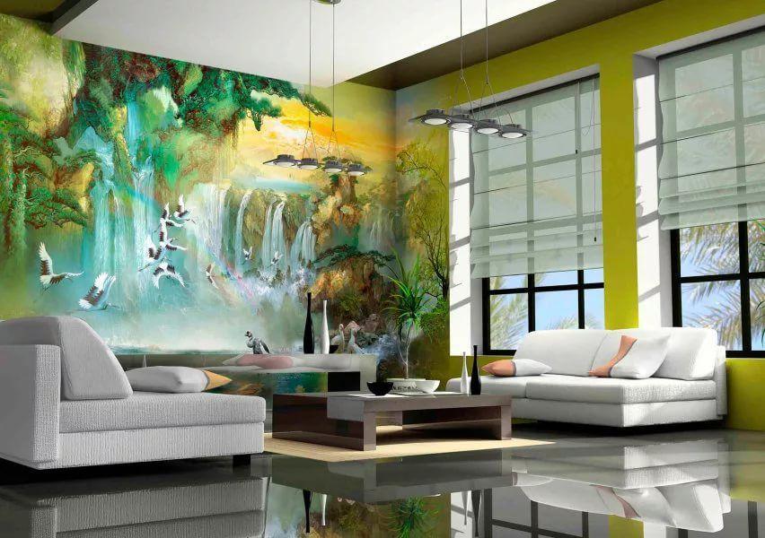 Cara Untuk Dekorasi Hiasan Dalaman Terbaik Rumah town House Hebat Wallpaper Fresco 47 Foto Panel Dengan Bunga Putih Yang Besar