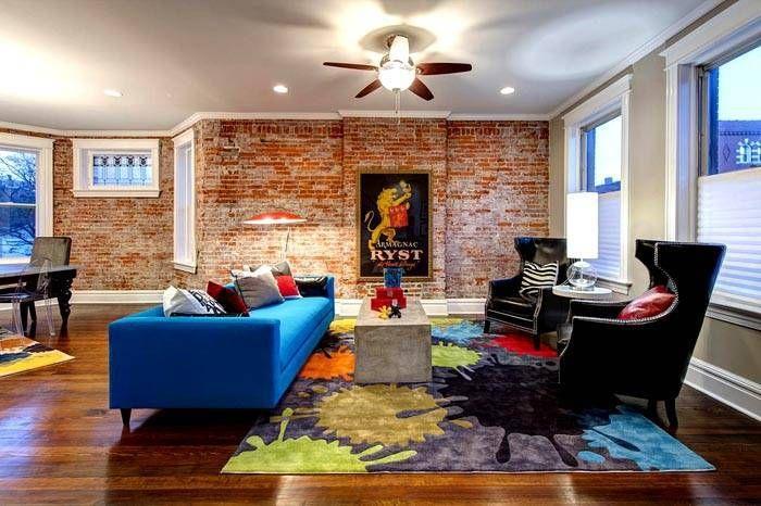 Cara Untuk Dekorasi Hiasan Dalaman Terbaik Rumah Warna Hijau Hebat Kombinasi Bata Merah Di Bagian Interior Dinding Bata Di Dapur