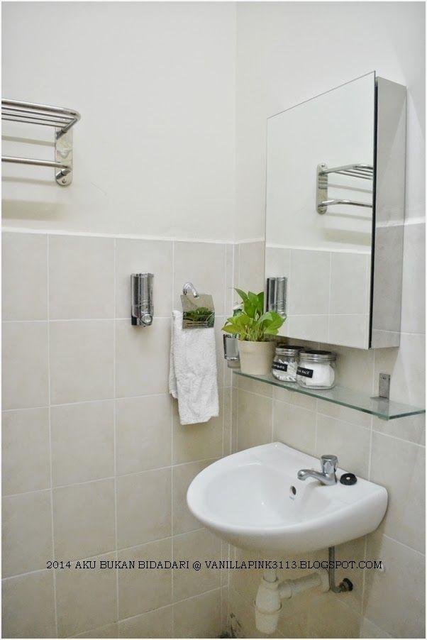 ni lah dekorasi dan susun atur tuk satu ruang dalam bilik air tu
