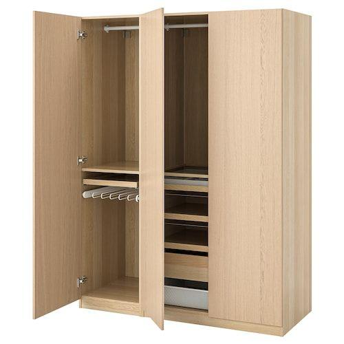 Cara Untuk Hiasan Dalaman Dapur Rumah Kampung Power Pax Almari Pakaian Kesan Kayu Oak Berwarna Putih Ikea