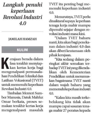 Kenal Pasti Masalah TVET 29 Ogos 2018