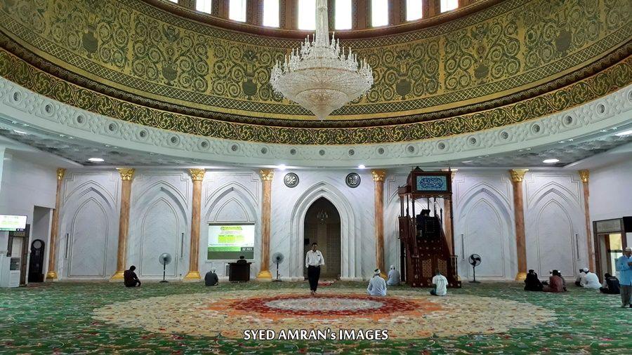 Jom kita tengok keindahan design dalaman masjid ini