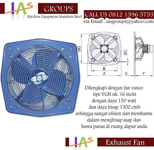 Exhaust fan bekerja untuk menghisap udara di dalam ruangan untuk dipindahkan ke luar dan pada saat bersamaan menarik udara segar di luar ke dalam ruangan